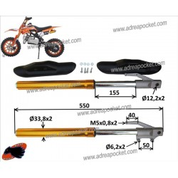 Fourches pocket bike cross apollo - orion - delta - kxd