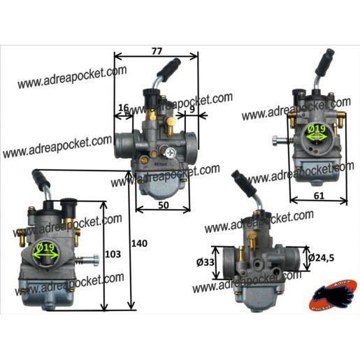 Carburateur 19 mm PHBG