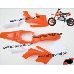 Carénage Orange Pocket Bike Cross Mini Apollo